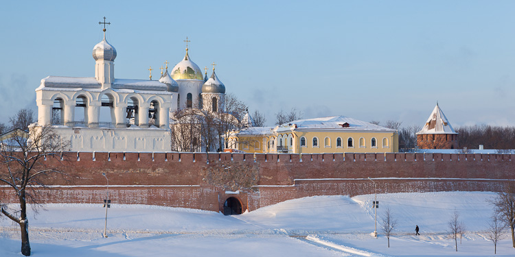 View of St. Sophia from outside the Kremlin, Novgorod