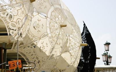 Lace Umbrellas - Venice