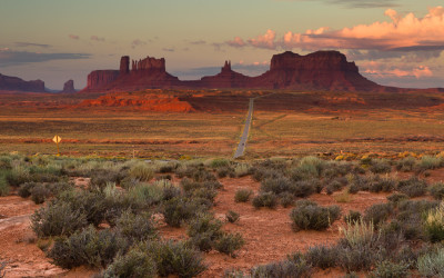 Sunrise - Monument Valley from US route 163