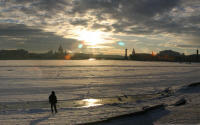 Frozen Neva Panorama