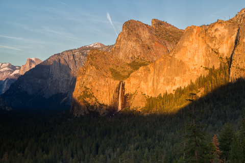 Sunset on Bridalveil Falls