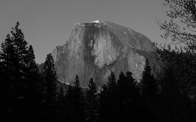 Half Dome lit by Full Moon