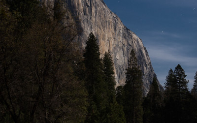 El Capitan under Moonlight