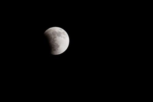Beginning of Lunar Eclipse